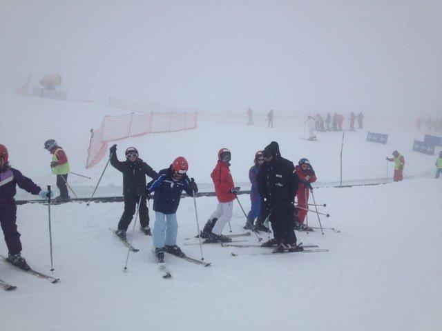 Y por fin esquiamos…