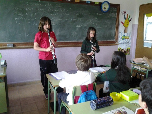 Year Three students learn about wind instruments