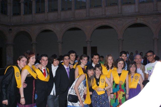 Imposición de bandas a los alumnos de 2º de Bachillerato