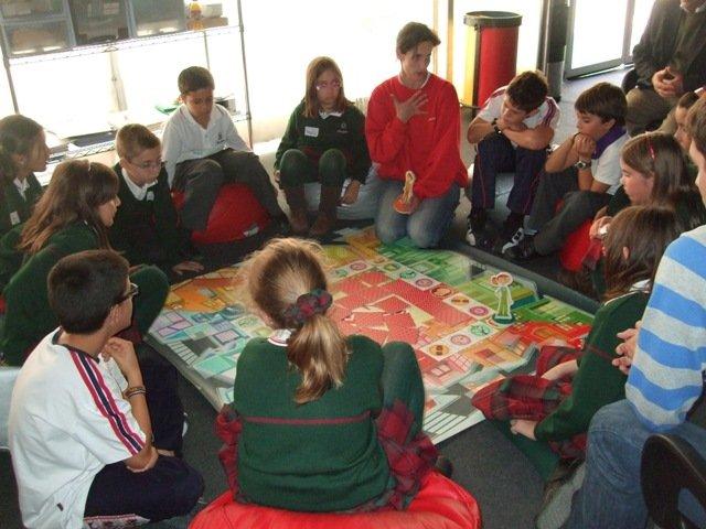 Los alumnos de 5º de Primaria en la Escuela de Educación Vial