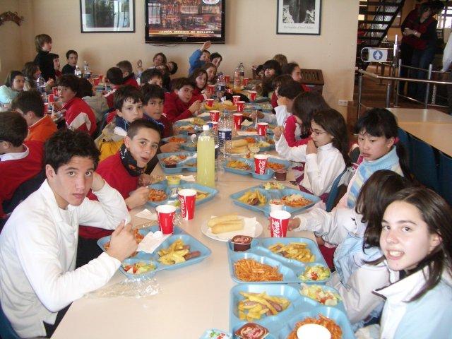 Alumnos de 6º de Primaria en La Covatilla