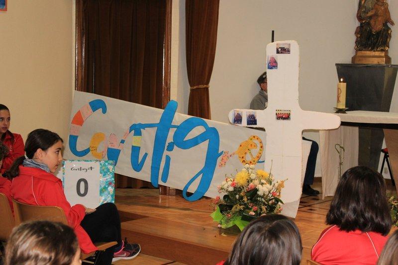 Celebración religiosa en honor a San José de Calasanz.