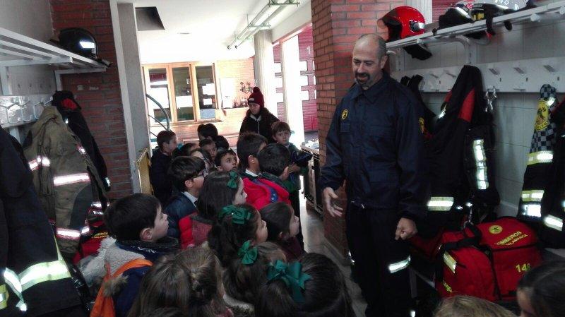 Visita al parque municipal de bomberos.