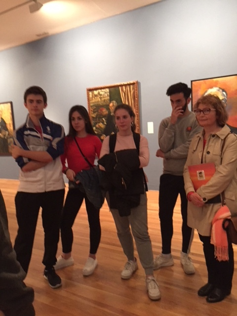 Visita a una exposición de Unamuno