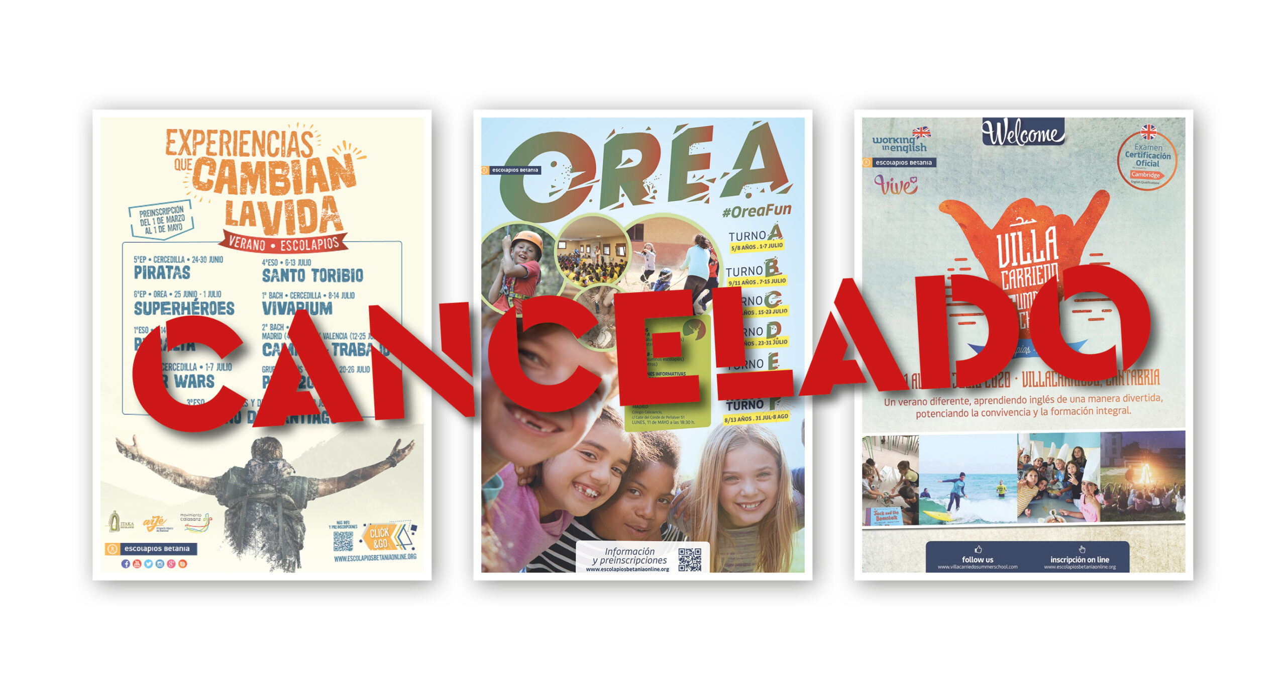Canceladas las actividades de Verano